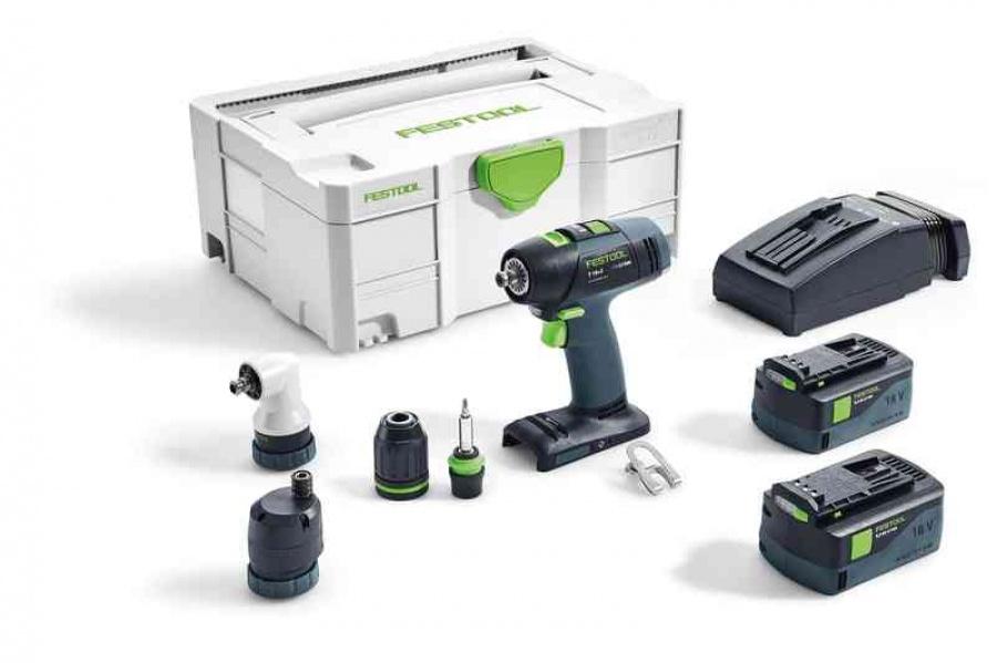 Festool t 18+3 li 5,2-set trapano avvitatore a batteria 575693 - dettaglio 1