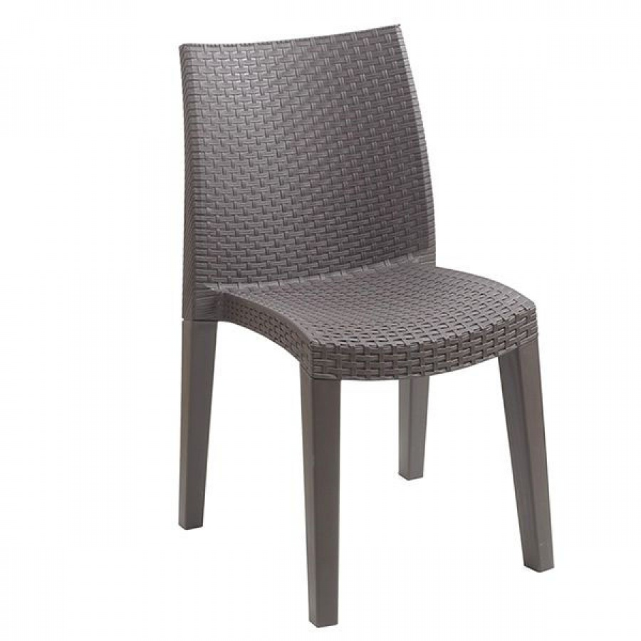 Progarden lady sedia monoblocco effetto rattan 01498an - dettaglio 1