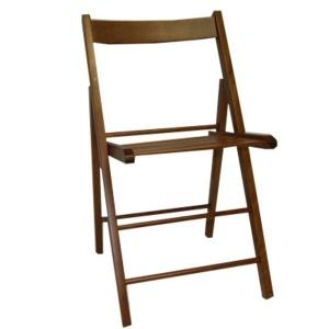 Vette sedia in legno pieghevole 03 libro noce - dettaglio 1