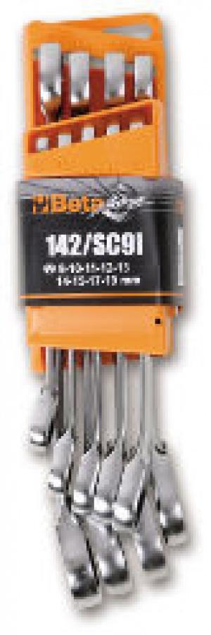 Serie chiavi Combinate a Cricchetto Reversibile Beta 142/SC9E pz. 9