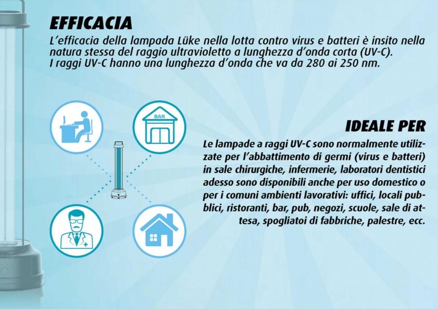 CFG Luke Lampada UV-C germicida per la disinfezione di aria e ambiente - EL088