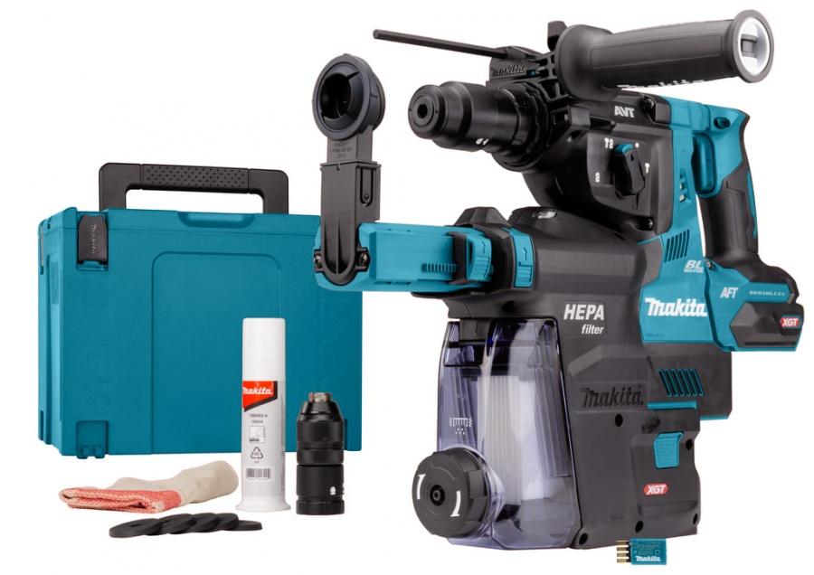 Tassellatore brushless aws 40v senza batterie makita hr002gz05 - dettaglio 1