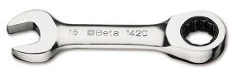 Chiave Combinata corta diritta a Cricchetto Beta 142C mm. 19x19