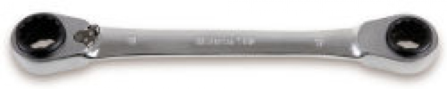 Chiave Poligonale doppia a Cricchetto Reversibile 4 in 1 Beta 192 mm. 8x10/12x13