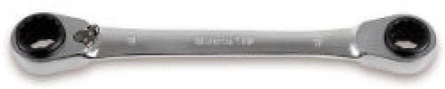 Chiave Poligonale doppia a Cricchetto Reversibile 4 in 1 Beta 192 mm. 16x17/18x19