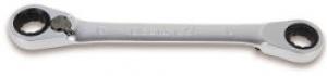 Chiave Poligonale doppia piegata a 15° a Cricchetto Beta 195P mm. 14x15