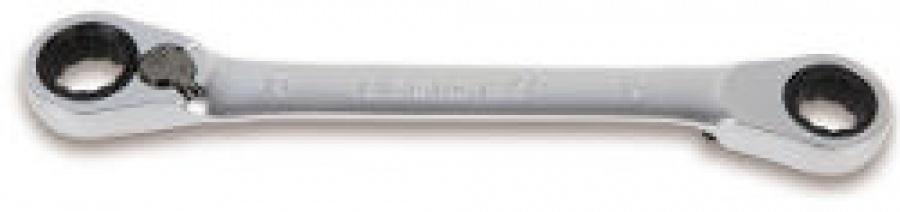 Chiave Poligonale doppia piegata a 15° a Cricchetto Beta 195P mm. 17x19