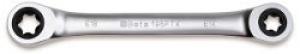 Chiave Poligonale doppia diritta a Cricchetto Profilo Torx Beta 195FTX E6xE8