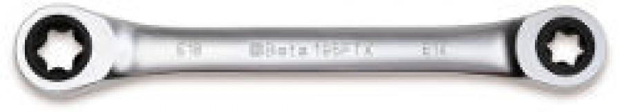 Chiave Poligonale doppia diritta a Cricchetto Profilo Torx Beta 195FTX  E10xE12