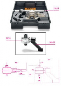 Moltiplicatore di coppia e accessori 5:1 con piede di reazione Beta 560/C4+