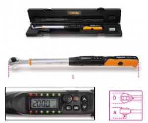 Chiave Dinamometrica elettronica a cricchetto reversibile Beta 599DGT/6 Nm 12-60