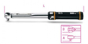 Chiave Dinamometrica a scatto con cricchetto reversibile Beta 606/6 Nm  8-60