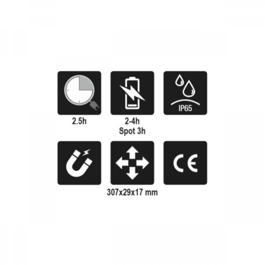 Lampada a 3 led snodata ricaricabile beta 1838slim 018380221 - dettaglio 5