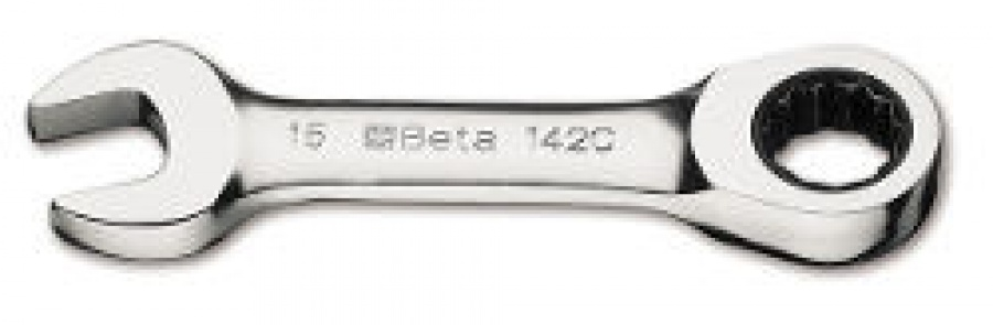 Chiave Combinata corta diritta a Cricchetto Beta 142C mm. 15x15