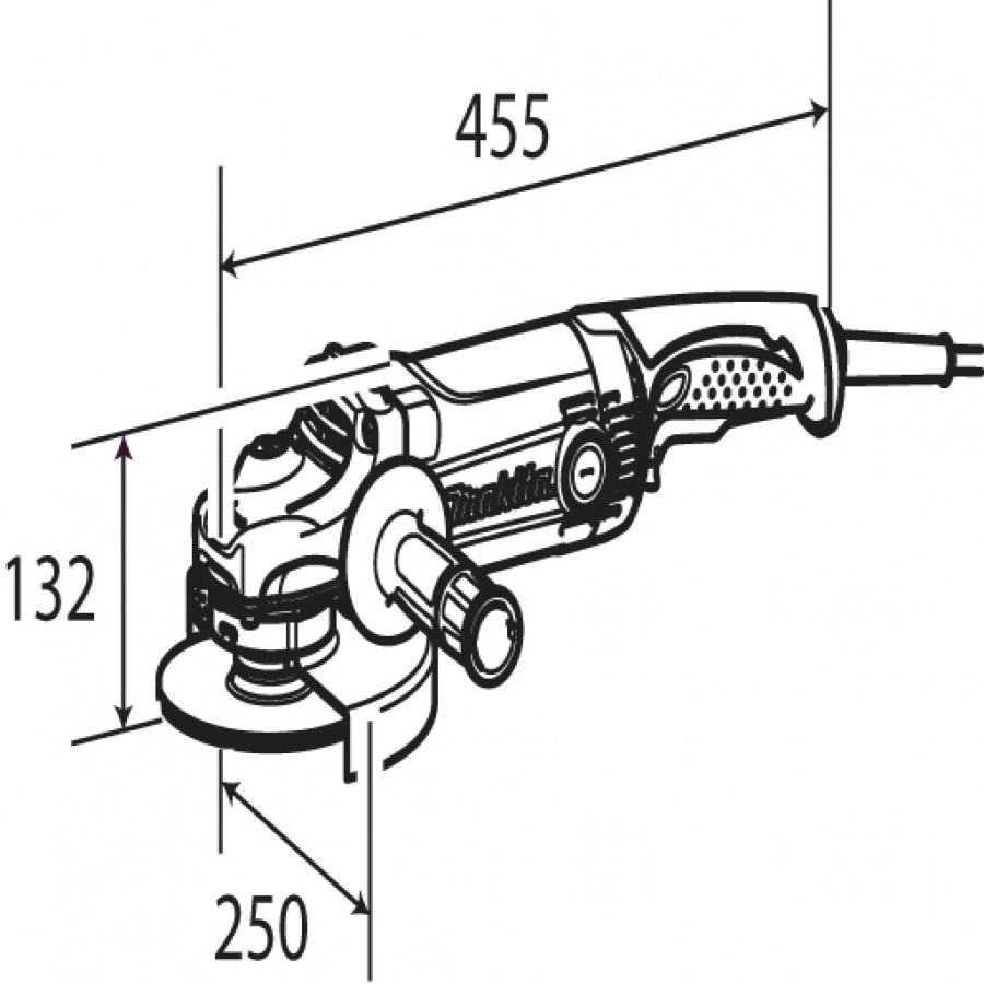 Disegno smerigliatrice angolare Makita GA9050R