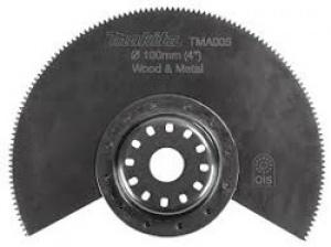 Lama segmentata Bim per TM3000C Tipo TMA005 per Multifunzione per Legno, Parquet, Alluminio Makita art. B-21319 D. mm. 100