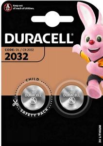 Duracell 2032 Batterie litio a bottone 3V Pz 2 - 2032
