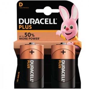 Duracell Torcia D Batterie Alcaline Plus 1.5 V Pz 2 - LR20/MN1300