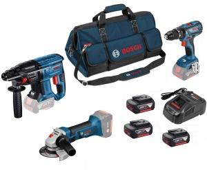 Bosch 0615990M0U Set tassellatore, smerigliatrice e avvitatore18V - Dettaglio
