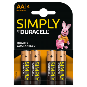 Duracell AA Batterie Alcaline Simply Pz 4 - LR6/MN1500