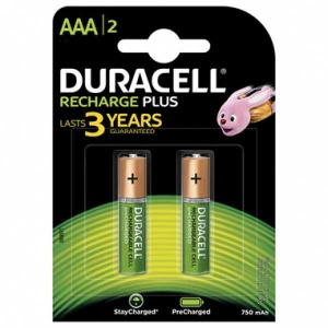 Duracell AAA Batterie ricaricabili Stay Charged Plus Pz 2 - AAA