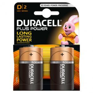 Duracell Torcia D Batterie Alcaline Plus Power Pz 2 - LR20/MN1300