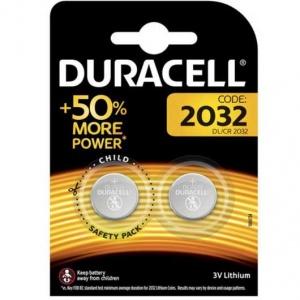 Duracell 2032 Batterie litio 50% More Power a bottone 3V Pz 2 - DL/CR 2032
