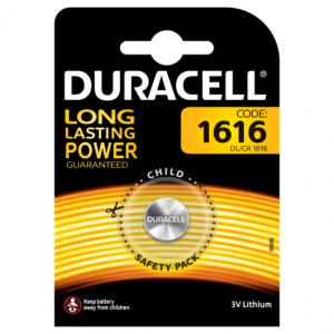 Duracell 1616 Batterie litio Long Lasting Power a bottone 3V Pz 1 - DL1616/CR/BR1616/CR1616