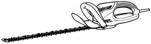 Disegno tagliasiepi Makita UH5570