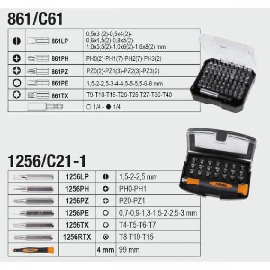 Beta 2056e valigia con assortimento 163 utensili 020560010 020560010 - dettaglio 2