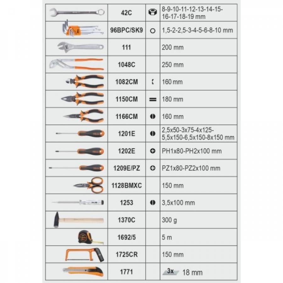 Beta 2056e valigia con assortimento 163 utensili 020560010 020560010 - dettaglio 3
