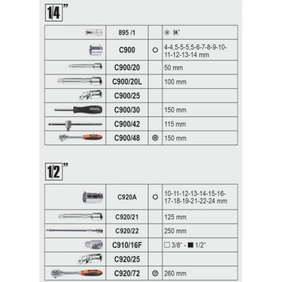 Beta 2056e valigia con assortimento 163 utensili 020560010 020560010 - dettaglio 4