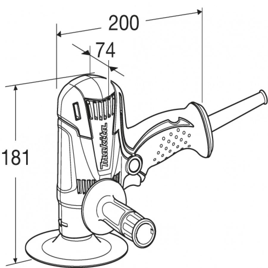 Disegno Levigatrice 440W Makita GV6010 mm. 150