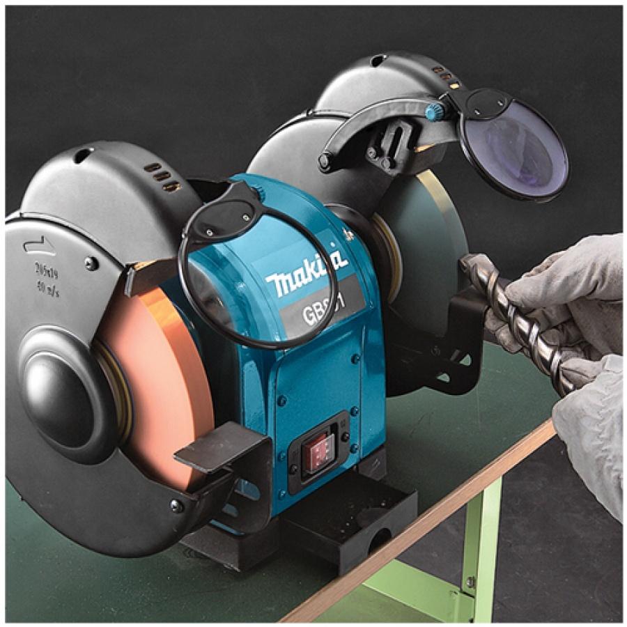 Utilizzo Mola da banco 550W Makita GB801 mm. 205