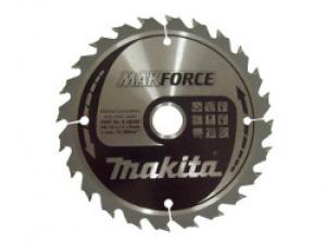 Lama MakForce per Legno per Seghe Circolari Makita art. B-08305 Tipo CSM16524G F.30 Z24 Taglio Medio D. mm. 165