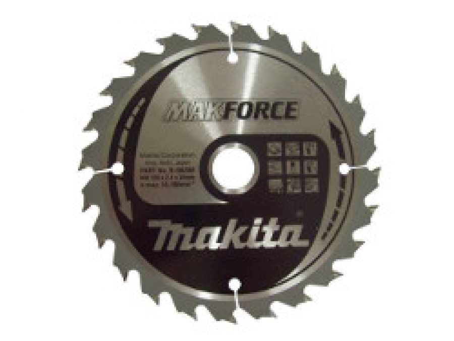 Lama MakForce per Legno per Seghe Circolari Makita art. B-08436 Tipo CSM16540G F.30 Z40 Taglio Medio D. mm. 165