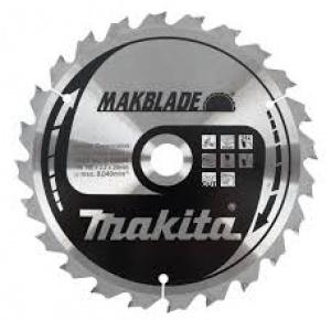 Lama MakBlade per Legno per Troncatrici di ogni marca Makita art. B-09070 Tipo MSF26080G F.30 N. 80 Denti Taglio Fine D. mm. 260