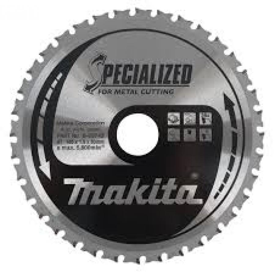 Lama Specialized Taglio Metallo per Seghe Circolari Makita art. B-09743 Tipo MCS18536G F. 30 N. Denti 36 D. 185X30X36Z