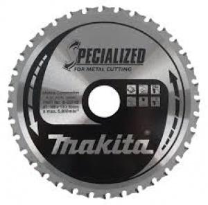 Lama Specialized Taglio Metallo per Seghe Circolari Makita art. B-09787 Tipo MCS18548G F. 30 N. Denti 48 D. 185X30X48Z