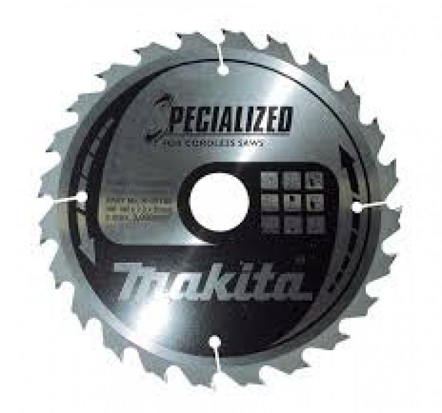 Lama Specialized Taglio Legno anche chiodato per Seghe Circolari Makita art. B-09391 Tipo CSME16524E F. 20 N. Denti 24 D. 165X20X24
