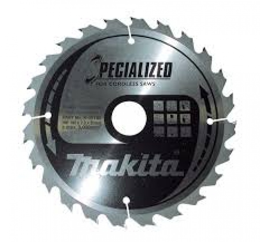 Lama Specialized Taglio Legno anche chiodato per Seghe Circolari Makita art. B-09341 Tipo CSCE18516G F. 30 N. Denti 16 Tipo Taglio Grossolano D. 185X30X16