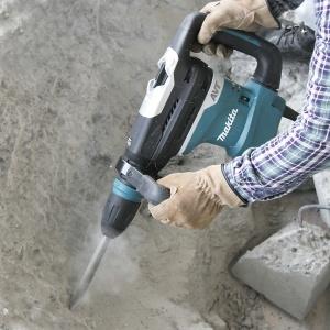Utilizzo Martello Demolitore Rotativo 1100W Makita HR4013C mm. 40 + Smerigliatrice 2000w GA9050R mm. 230 + Disco Diamantato + Set Scalpelli + Cuffia