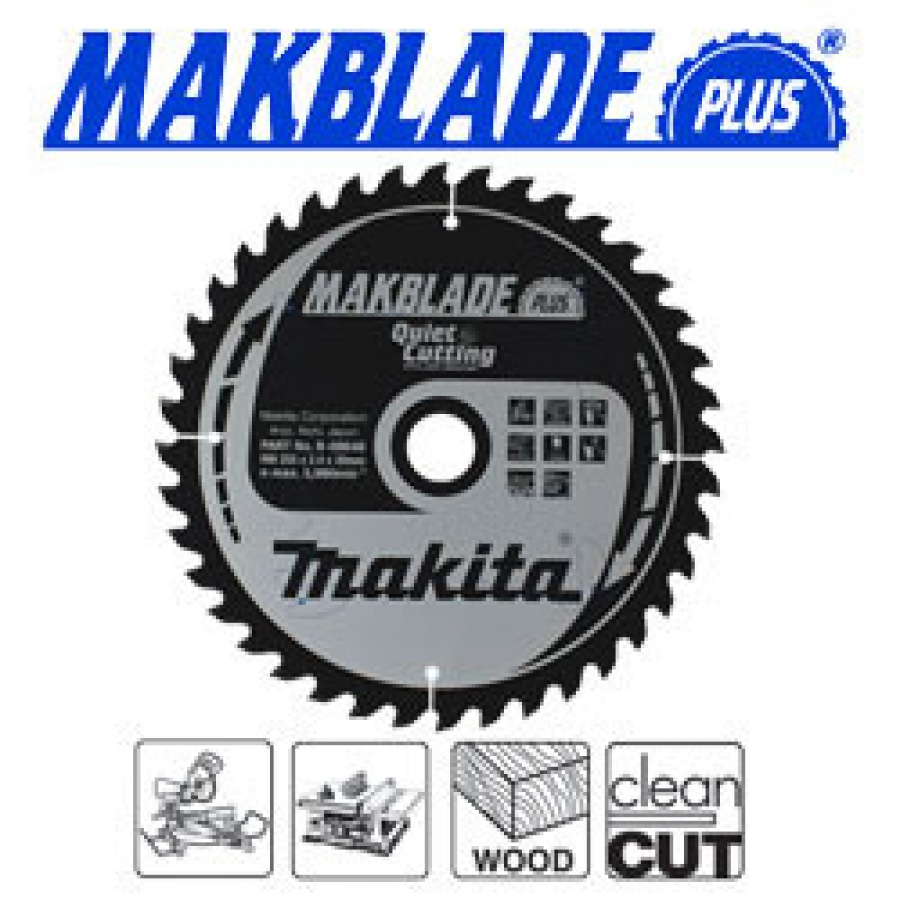 Lama MakBlade Plus per Legno per Troncatrici Makita art. B-08791 Tipo MSXF21680GL F. 30 N. Denti 80 D. mm. 216X30X80Z