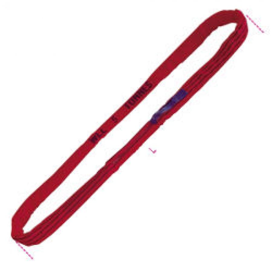 Fascia di Sollevamento ad Anello Continuo Rossa Portata 1 Tonnellata Robur 8178 Mt. 1