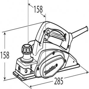 Disegno Pialla 620W Makita KP0800K mm. 82