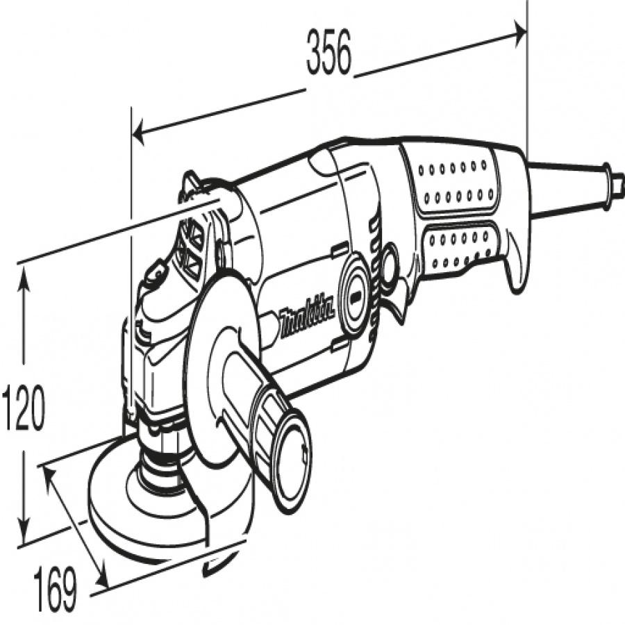 Disegno Smerigliatrice Angolare Makita GA6020