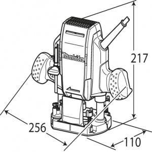 Disegno Fresatrice verticale 900W Makita RP0900