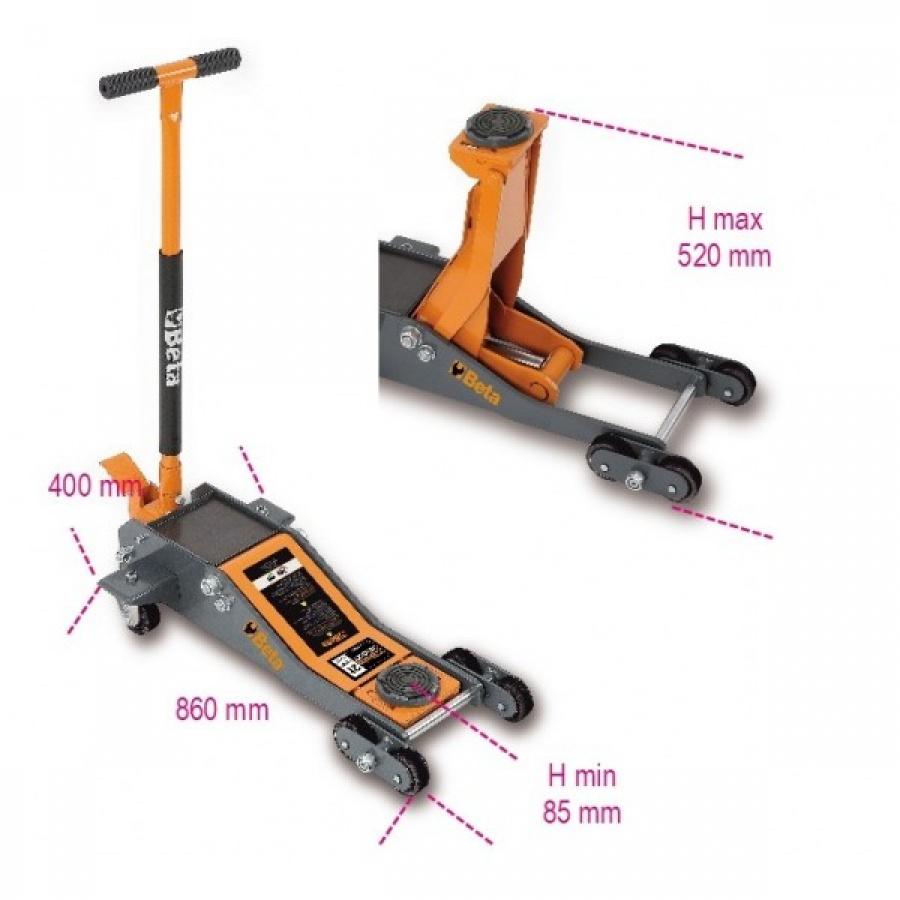sollevatore idraulico ribassato beta 3030/2T