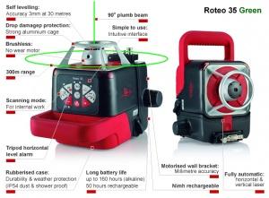 livello laser rotante leica roteo 35green