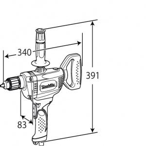 Disegno Trapano miscelatore 750W Makita DS4010